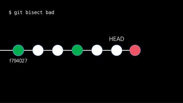 f794027 HEAD $ git bisect bad
