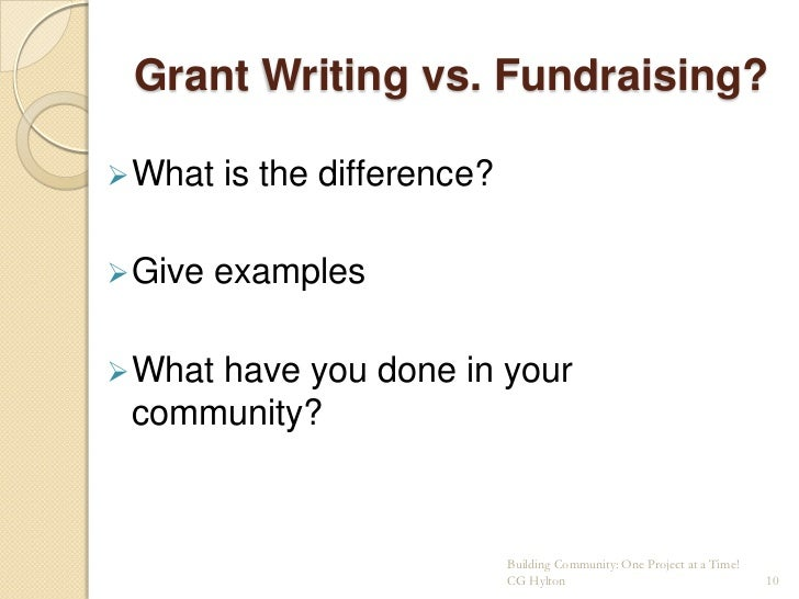 Effective Grant and Proposal Writing – Writing a Fundraising Proposal