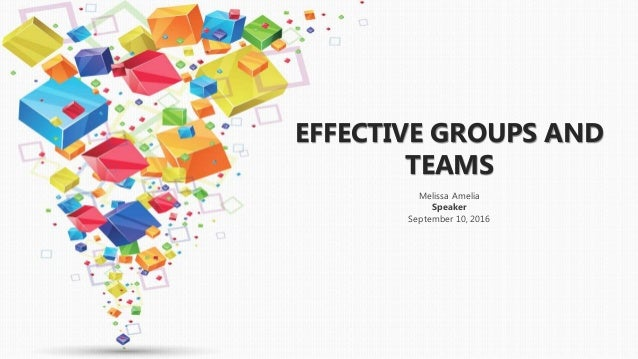 effective groups and teams