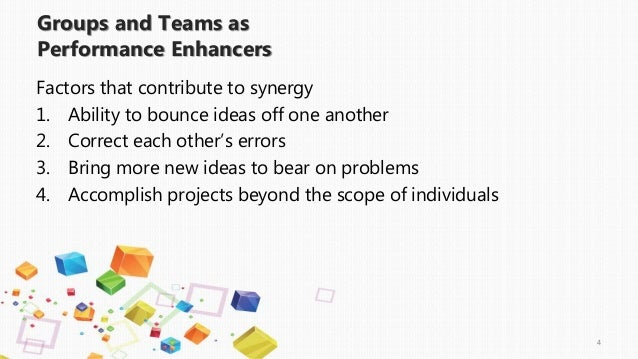 effective groups Leaders need versatility and flexibility as they bring project responsibility,  technical knowledge and information to their groups knowing how to structure.