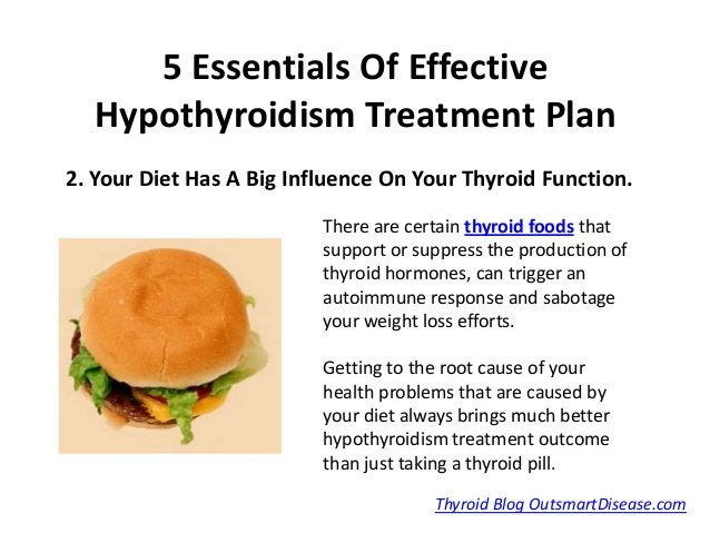 5 Essentials Of Effective  Hypothyroidism Treatment Plan2. Your Diet Has A Big Influence On Your Thyroid Function.        ...