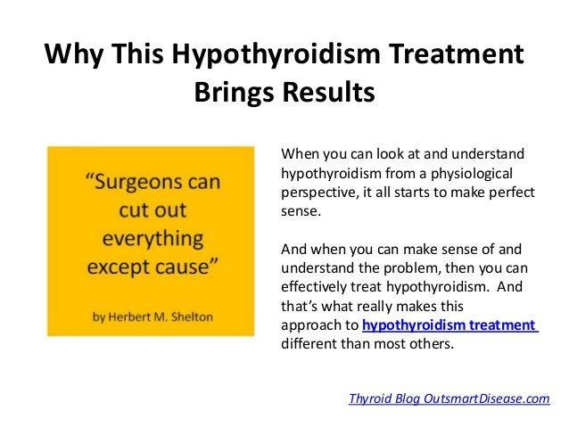 Why This Hypothyroidism Treatment          Brings Results                When you can look at and understand              ...