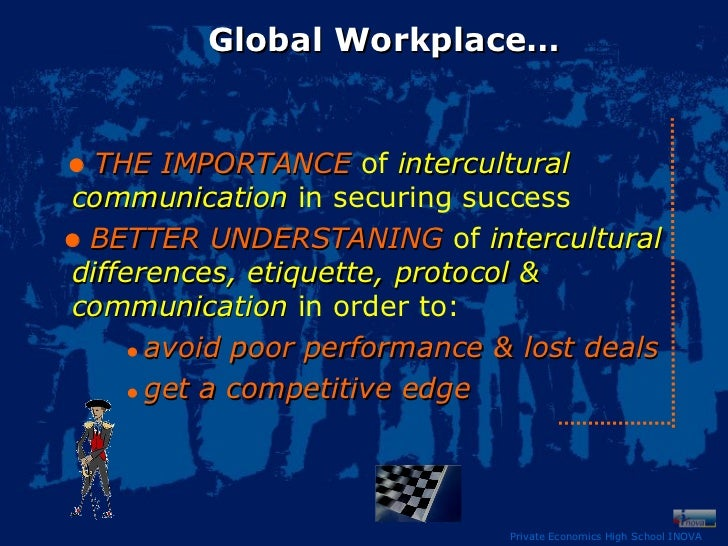 how poor intercultural communication affects international Image via wikipedia business leaders know that intercultural savvy is vitally   such values affect how you think and act and, more importantly, the kind of  criteria by  every aspect of global communication is influenced by cultural  differences  by contrast, low-context cultures (most of the germanic and.