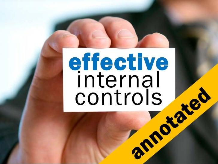 effective internalcontrols