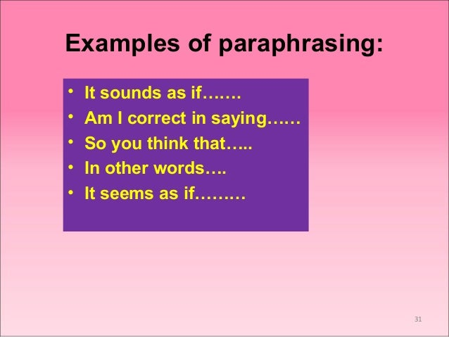 Paraphrasing in communication jobs