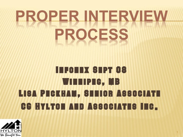 Infonex Sept 08          Winnipeg, MBLisa Peckham, Senior AssociateCG Hylton and Associates Inc .                         ...