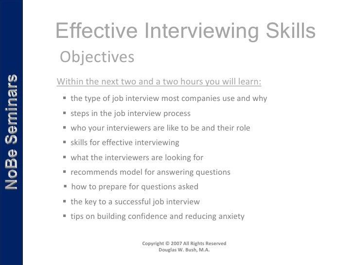 effective interviewing skills