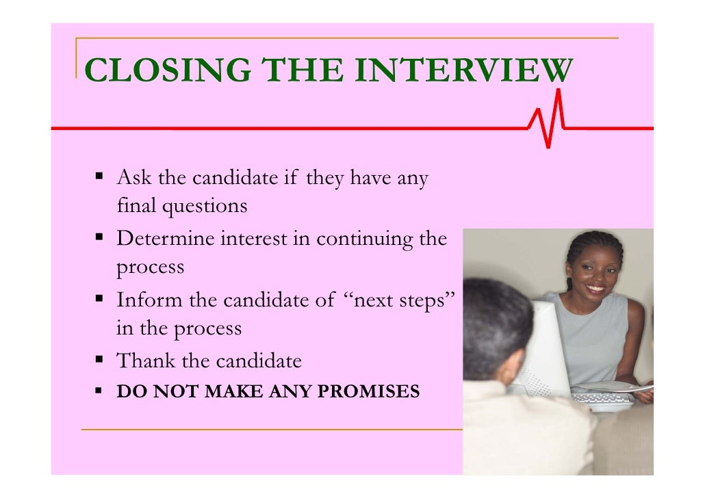 Effective interview skills