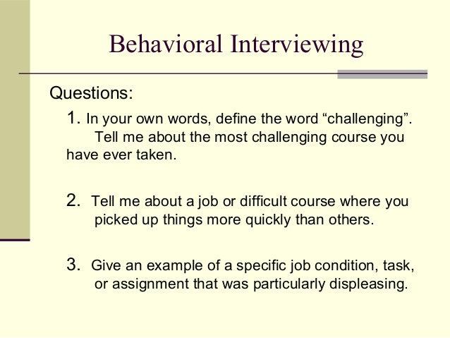behavioral interviewing techniques