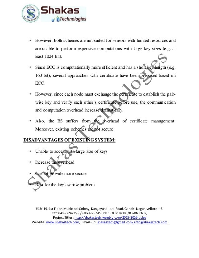 key management in wsn thesis The security system and algorithm for wsn are mainly focused on in this paper to  design an effective authentication and key management.