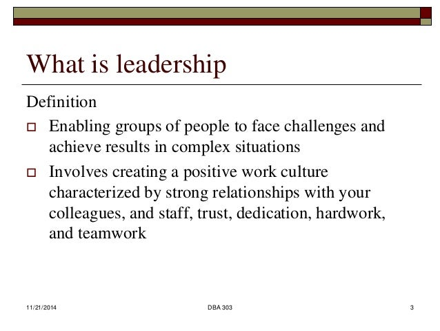 reflection of leadership styles