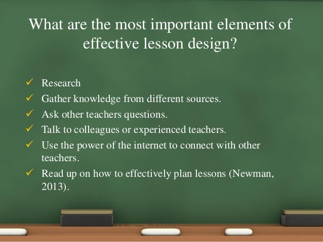 What Are The Most Important Elements Of Effective Lesson ...