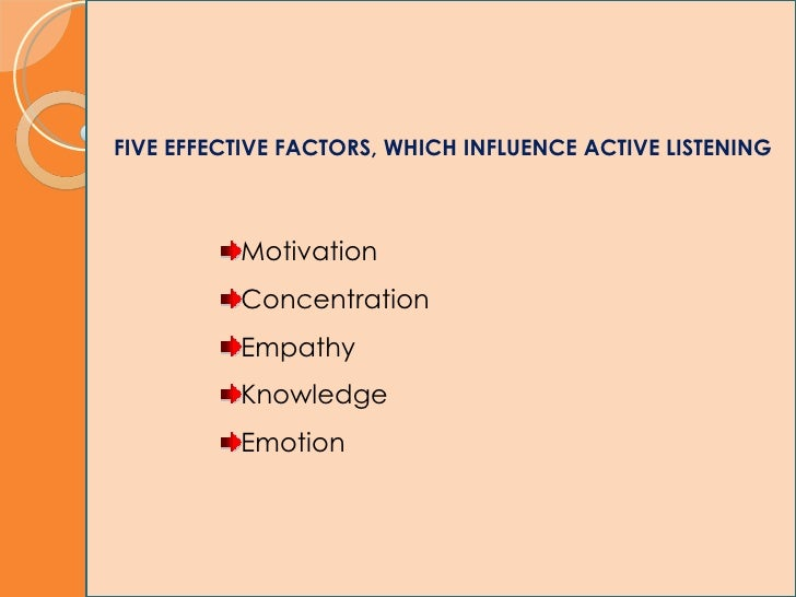key components of active listening