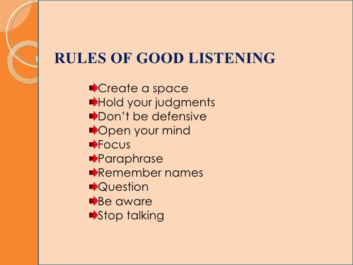 an analysis of guidelines for effective listening Listening, as i noted recently in a blog entry about improving your communication skills in a relationship, is a core component to a healthy relationship  guidelines for good listening psych .