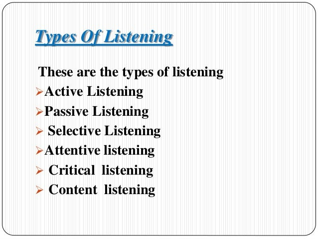 types of effective listening