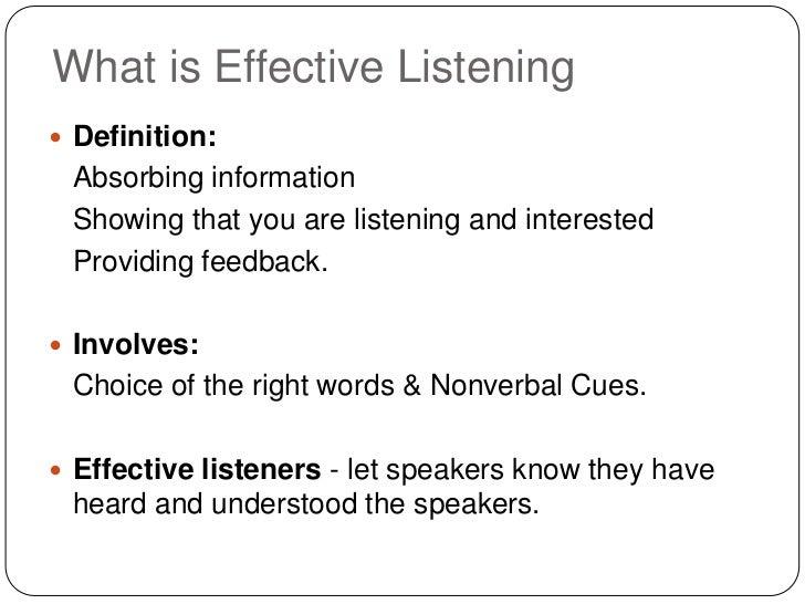 effective informative listening