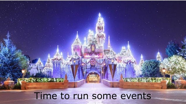 Time to run some events