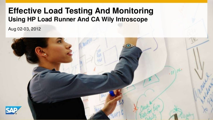 Effective Load Testing And MonitoringUsing HP Load Runner And CA Wily IntroscopeAug 02-03, 2012
