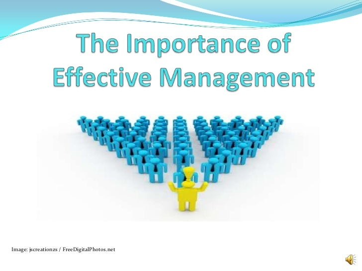 The Importance of Effective Management<br />Image: jscreationzs / FreeDigitalPhotos.net<br />