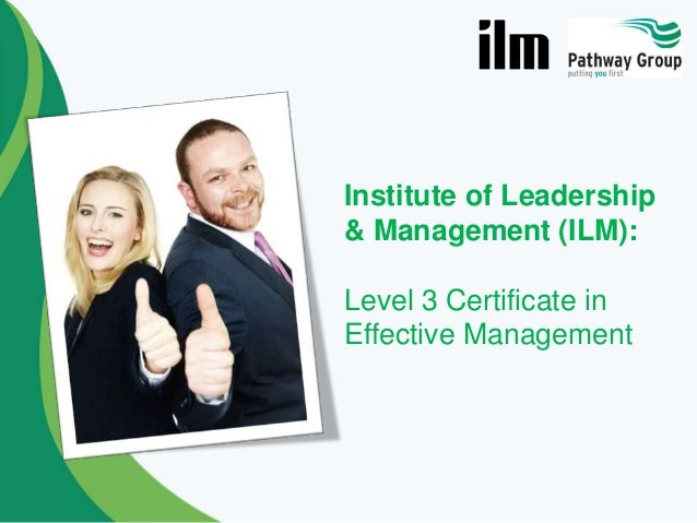 ilm level 3 m 12 Ilm level 2 diploma in team leading (combined qualification) understanding business unit: m&l 8 institute of leadership & management  (up to 12 months) the successful.