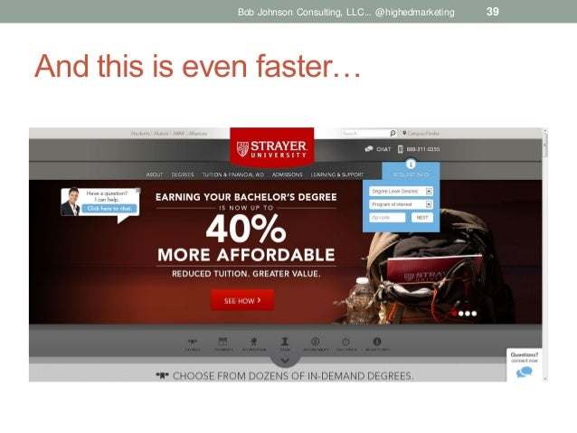 Bob Johnson Consulting, LLC... @highedmarketing  And this is even faster…  39