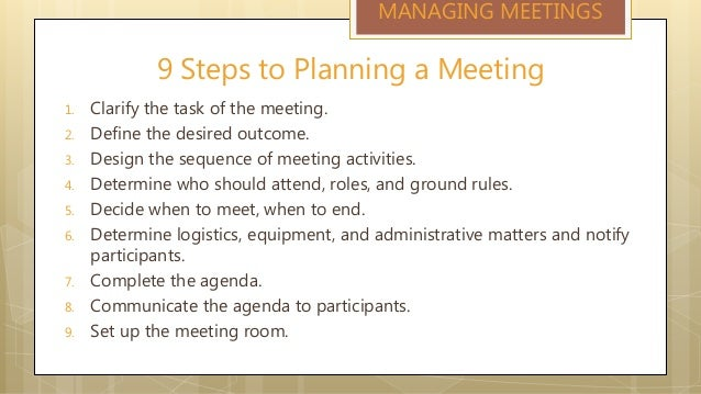 how to set up an agenda for a meeting