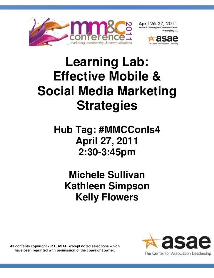 Learning Lab:                  Effective Mobile &                Social Media Marketing                       Strategies  ...
