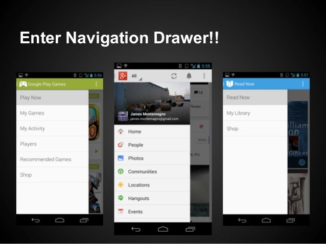 xamarin android navigation drawer example