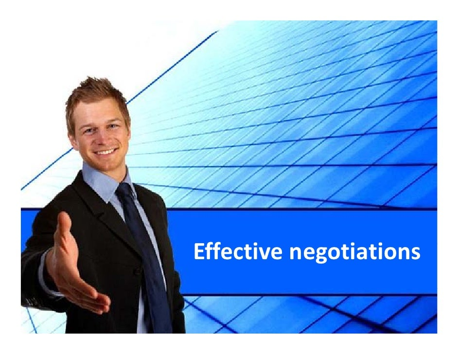 Effective negotiations Eff i          i i