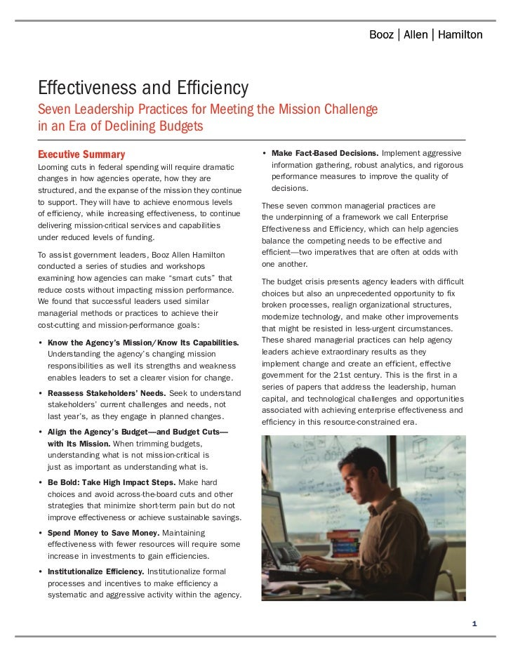 Effectiveness and Efficiency Slide 3