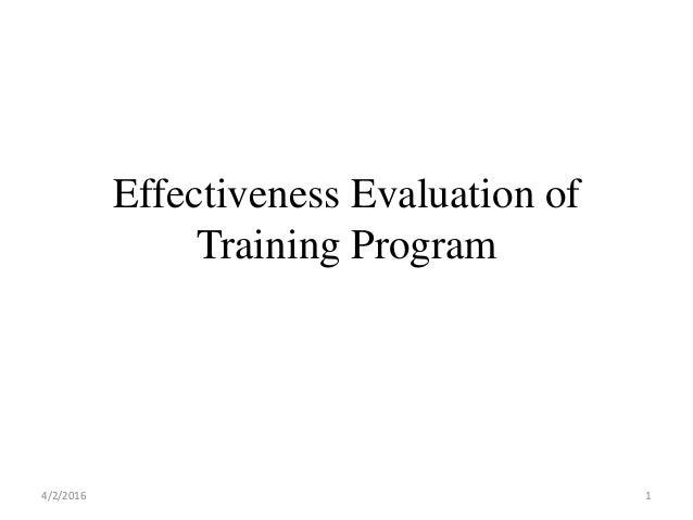 effectiveness training program thesis