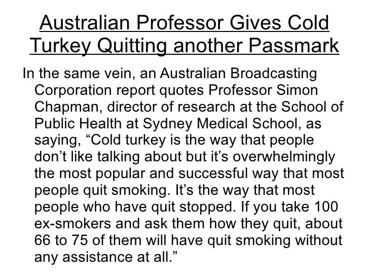 how to stop cold turkey