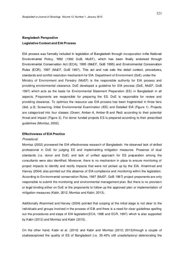 effectiveness of environmental impact assessment eia p 7