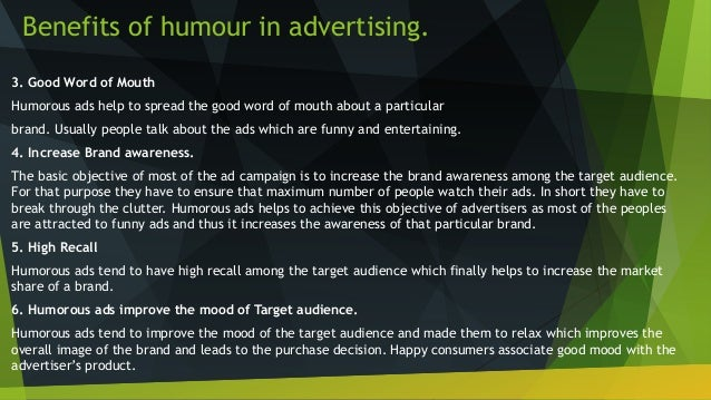 Study of effectiveness of humorous ads