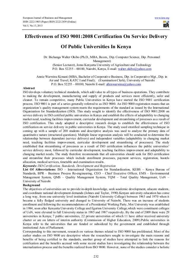 European Journal of Business and Management www.iiste.orgISSN 2222-1905 (Paper) ISSN 2222-2839 (Online)Vol.5, No.13, 20132...