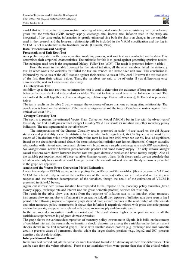effect of monetary policy in nigeria The impact of monetary policy on foreign trade in nigeria chapter one introduction 11 background to the study the central bank of nigeria (cbn) since it was established in 1959 has been playing its primary role of regulating money for the social and industrial welfare of the country.