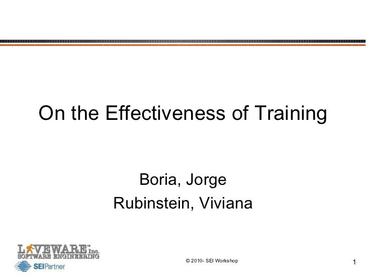 On the Effectiveness of Training Boria, Jorge Rubinstein, Viviana