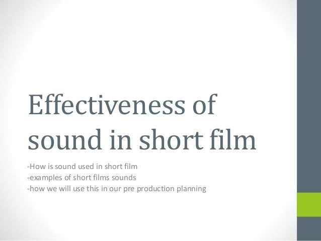 essays of problems with short film production A short is a film that is not as long as a feature-length film film production can historic films have problems in terms of preservation and storage.