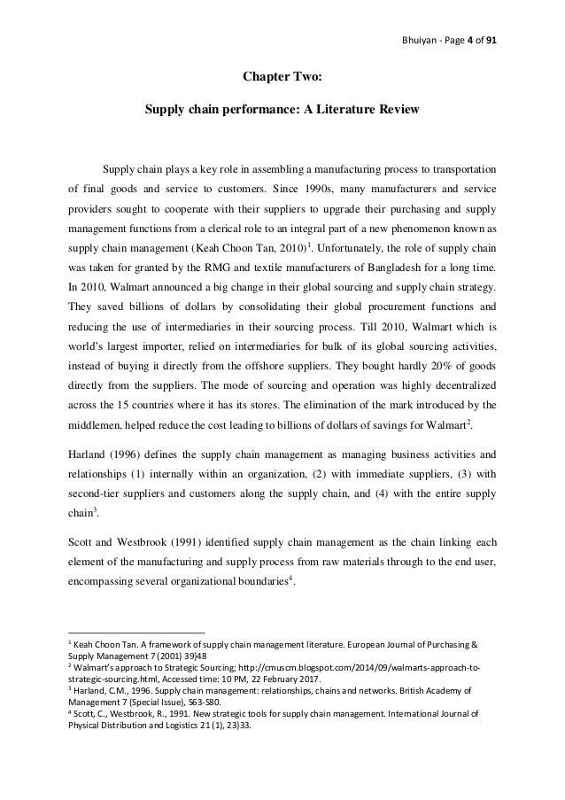 Effectiveness of supply chain management in textile and apparel indus…