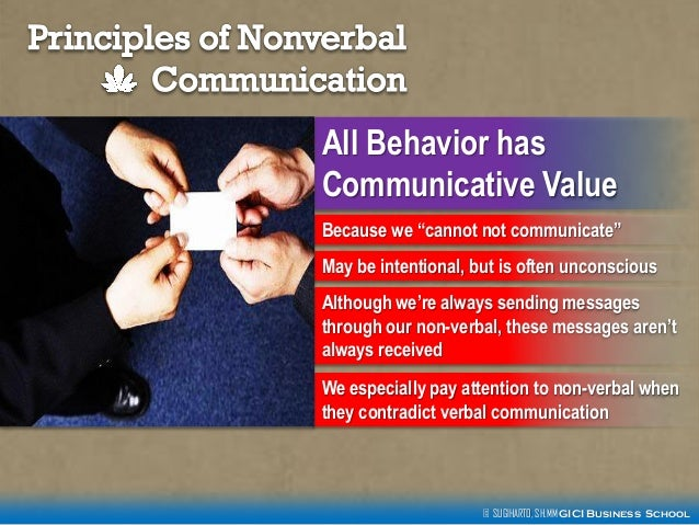 principles of verbal messages