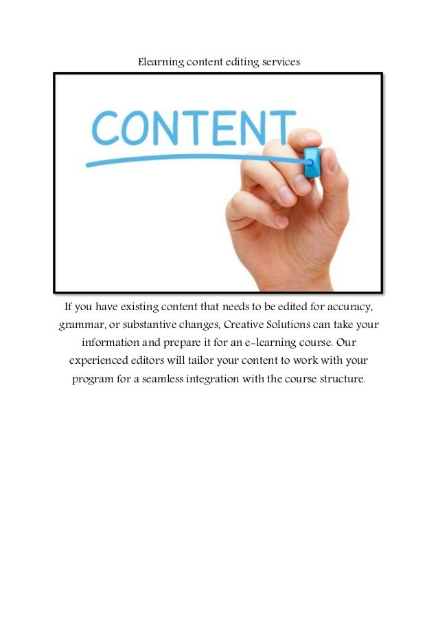 Online content writing services