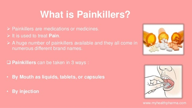 Different types of painkillers