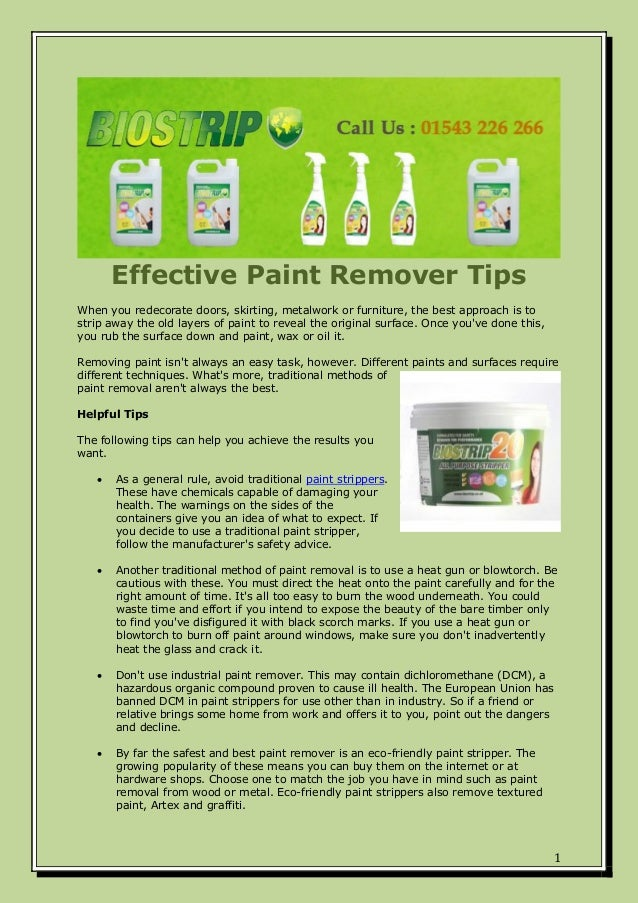Effective Paint Remover Tips