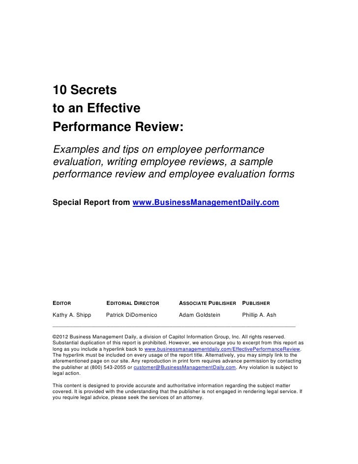 Communication: Sample Performance Review Phrases