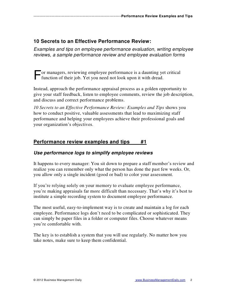 Effective Performancereview