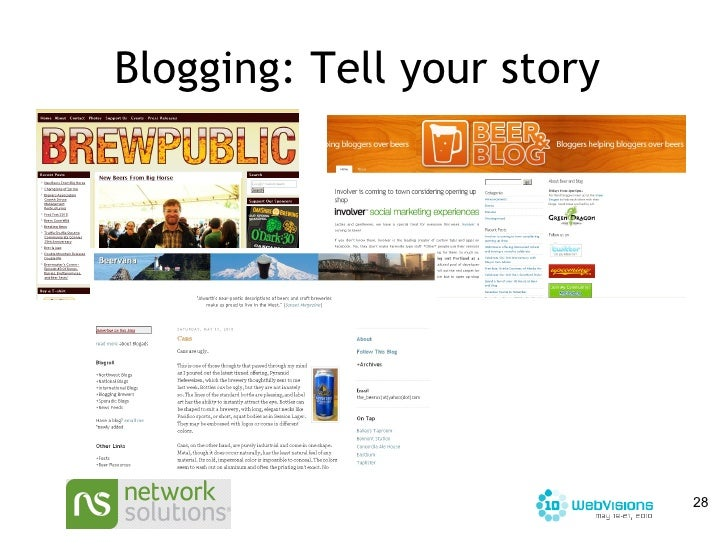 Blogging: Tell your story