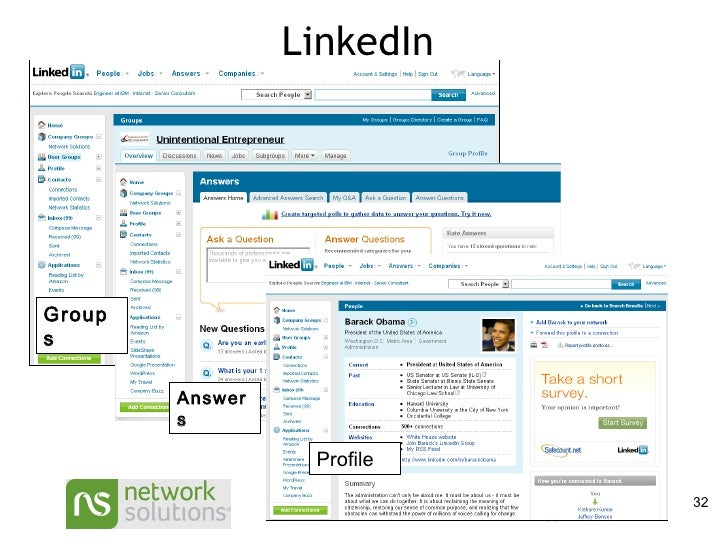 LinkedIn Profile Answers Groups