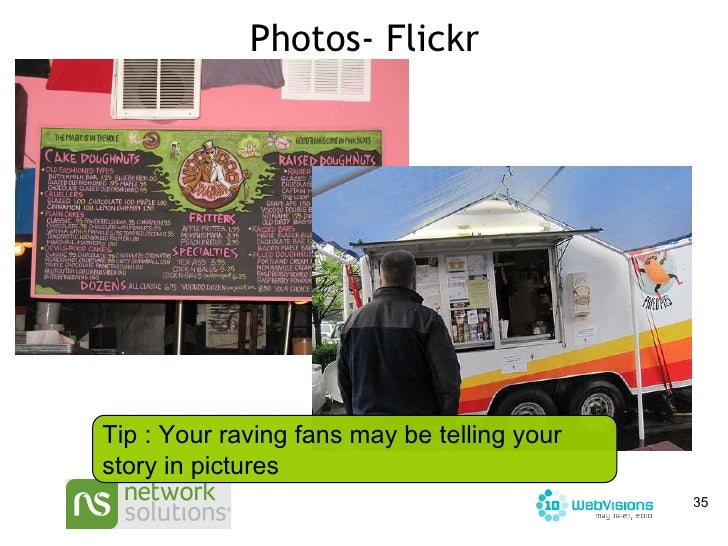Photos- Flickr Tip : Your raving fans may be telling your story in pictures