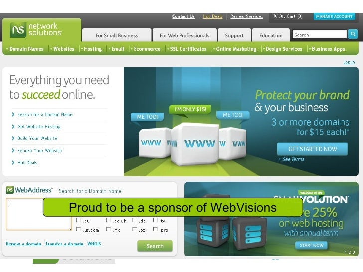Proud to be a sponsor of WebVisions