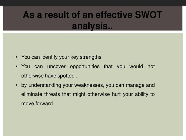 personal swot oppurtunities and threats Personal development whereas opportunities and threats are external factors relating to your a personal swot analysis allows us to find opportunities that we.
